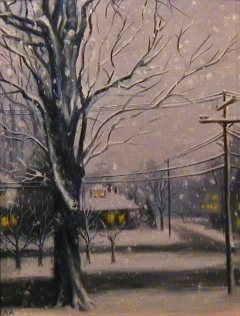 """Winter's Elm"" by Lydia Martin (20""x16"") oil on wood panel"