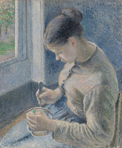 Young Peasant Having Her Coffee