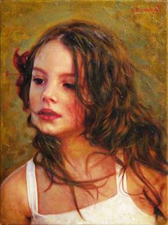 «Πορτρέτο κοριτσιού»  30 x 40 cm, oil on canvas.