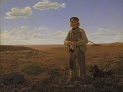 A Jutland Shepherd on the Moors