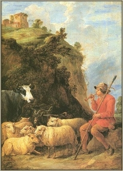 A Shepherd playing Music for his Flock