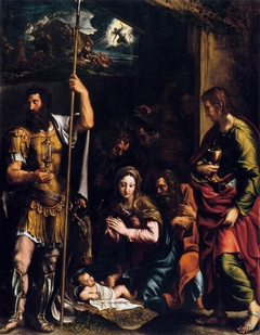 Adoration of the Shepherds with Sts. Longinus and John