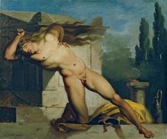 Adrastos slays himself on Atys' tomb
