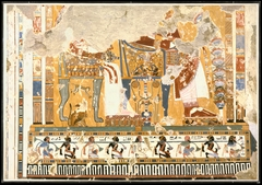Amenhotep III and Queen Tiye Enthroned Beneath a Kiosk, Tomb of Anen