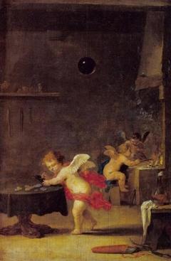 Amoretti in an Alchemist's Workshop