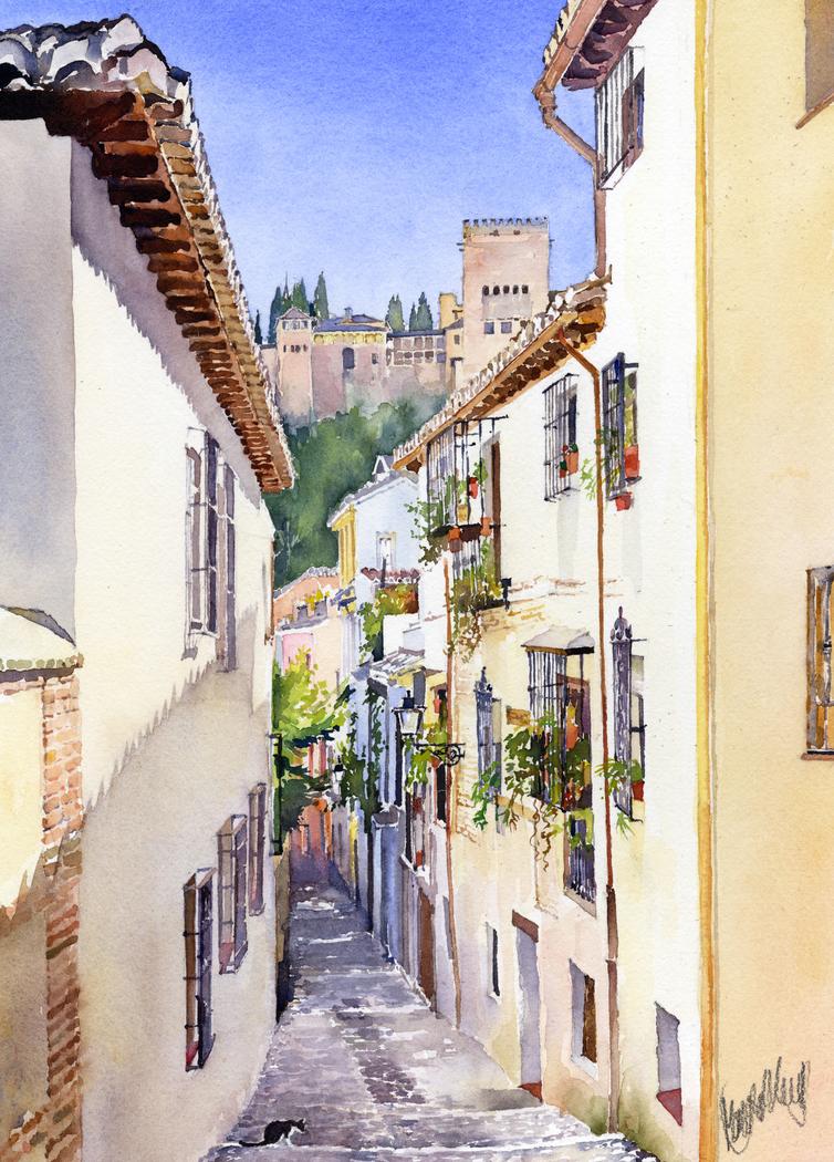 An Alley in the Albaicin 2