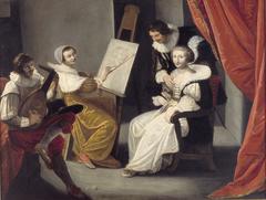 An Artist in Her Studio