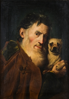 An Old Man with a Dog