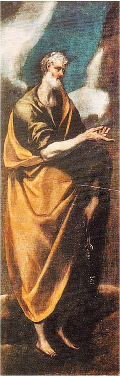 Apostle Peter at full-length