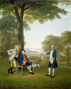 Arthur Holdsworth Conversing with Thomas Taylor and Captain Stancombe by the River Dart
