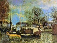 Barges on the Canal Saint-Martin