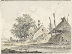 Boerderij en een hooiberg