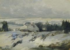 """Böhmisch-Mährische Höhe (aus der Mappe """"16 Ansichten tschechischer Landschaften 'Česka Krajiná'"""")"""