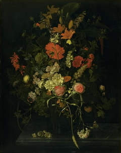 Bouquet of Flowers in a Glass Vase