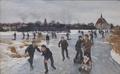 Children skating outside Fåborg