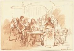 Christus met de discipelen aan tafel