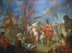 Cleopatra's arrival at Tarsus