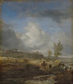 Cloudy Dune Landscape