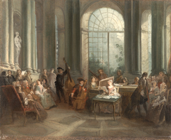 Concert in the Oval Salon of Pierre Crozat's Chateau at Montmorency