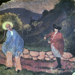 Costume composition in a landscape