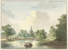 De Hogerwoerdse Poort te Leiden vanaf de Singel gezien