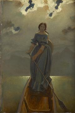 Die Schifferin (Baronin Marie Spaun am Gmundner See)