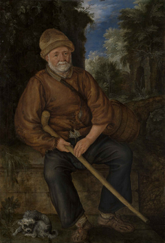 Ein Bauer auf der Rast