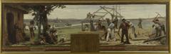 Esquisse pour la mairie de Saint Maur-des-Fossés: Famille et Travail