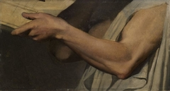 Étude de bras pour Pindare dans L'Apothéose d'Homère