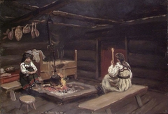 Farm Interior from Ose in Setesdal