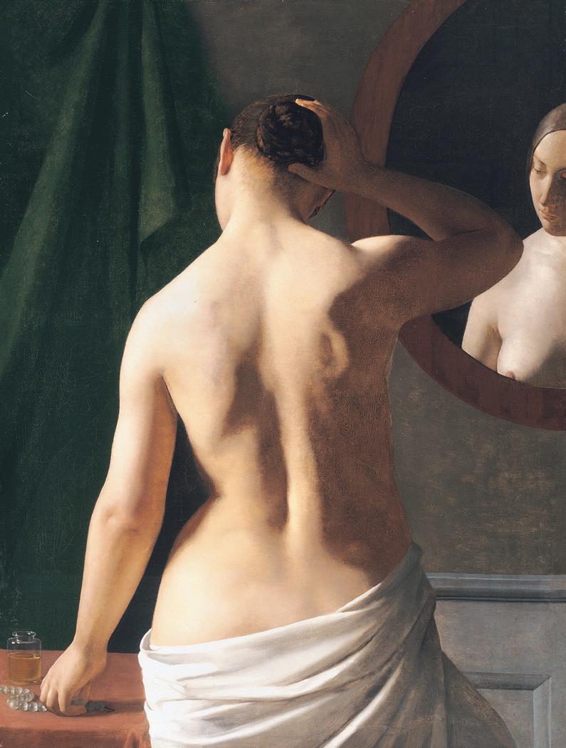 Female Model Before a Mirror