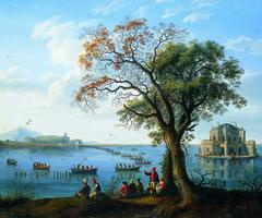 Ferdinand IV. hunting coots at lake Fusaro