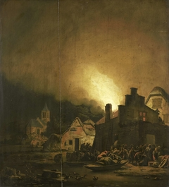 Fire by night in a Village