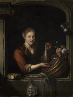 Fish Seller in a Window
