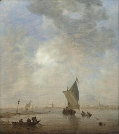 Fishermen hauling a Net