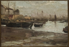 Fishing port, sketch