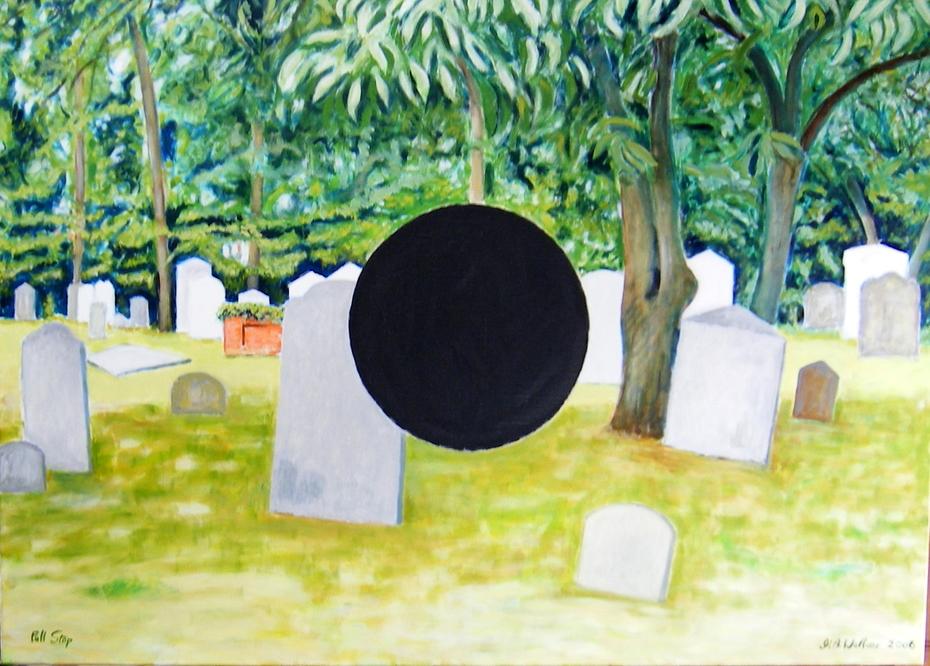 'Full Stop' 2006, 140 x 100 cm, Oil on Linen.