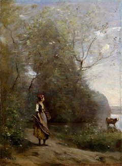 Girl in a Forest