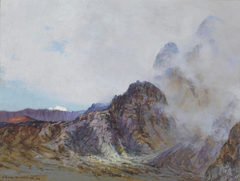 Haleakala, rim of the crater at sunrise