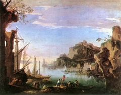 Harbour with Ruins