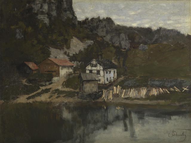 Häuser am Felsabhang - Saut du Doubs