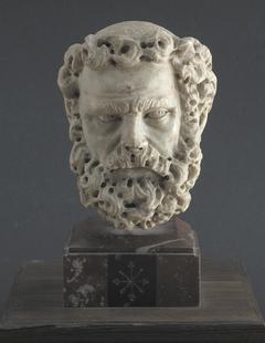 Head of a bearded man