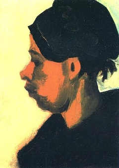 Head of a Peasant Woman with Dark Cap