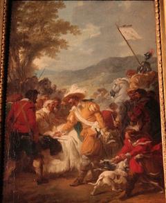 Henri IV rencontrant Sully blessé