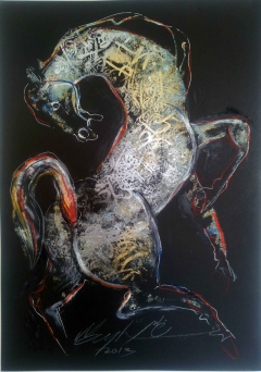 Horse with calligraphy 3