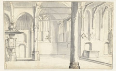 Interieur van de Sint-Odulphuskerk te Assendelft