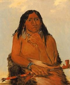 Is-sa-wáh-tám-ah, Wolf Tied with Hair, a Chief