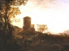 Italian Landscape by Evening