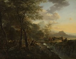 Italian Landscape with a Draughtsman
