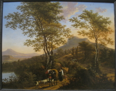 Italian Landscape with Peasants